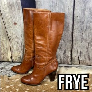 FRYE Vicky Campus All Leather Boots Sz 9 M